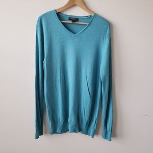 Banana republic silk linen v neck sweater size L